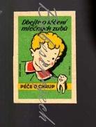 40-93 CZECHOSLOVAKIA 1957 Dental Care - Molar - Pay Attention To The Treatment Deciduous Teeth  Milk Teeth  Baby Teeth, - Zündholzschachteletiketten