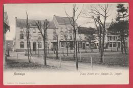Scherpenheuvel / Montaigu  - Place Albert Avec Maison St. Joseph ... Hôtel Du Cygne ( Verso Zien ) - Scherpenheuvel-Zichem