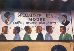 Enseigne De Coiffeur En Cote D'Ivoire - Coiffure Mode: Afro, Disco, Kenyata, Sakora, Platini, Nukruma, Jimmy Carter - Côte-d'Ivoire