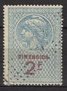 FRANCE  - FISCAL DIMENSION - 2 Francs -  / FD94 - Fiscale Zegels
