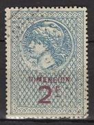 FRANCE  - FISCAL DIMENSION - 2 Francs -  / FD100 - Fiscale Zegels