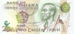 GHANA   2 Cedis   2/1/1978   P. 14c   UNC - Ghana