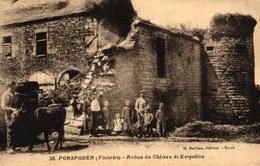 PORSPODER -29- RUINES DU CHATEAU DE KERGADIOU BELLE ANIMATION - France