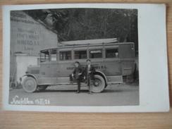 NEUFELDEN - 1926 Alter Bus Der Verkehrs A.G. Linz - Rohrbach
