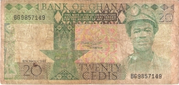 GHANA   20 Cedis   6/3/1982   P. 21c - Ghana