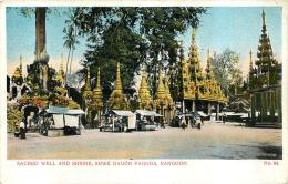 MYANMAR BURMA  RANGOON  SACRED WELL AND SHRINE SHWE DAGON PAGODA - Myanmar (Burma)