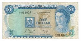 Bermuda ,  1 Dollar 1976, F .  Free Ship. To USA. - Bermudas