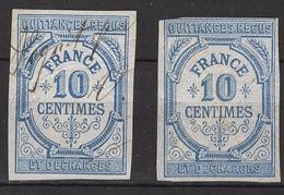 FRANCE  - LOT 2 FISCAUX /  QUITTANCES RECUS - 10 CENT -  / FD138 - Fiscale Zegels