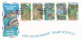 New Zealand 1995 Environment Stamp Booklet FDC - FDC