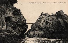 PRIMEL -29- LA CREVASSE ET LE PONT VUS DE LA MER - Primel