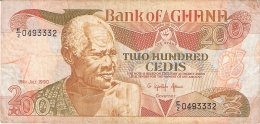 GHANA   200 Cedis   19/7/1990   P. 27b - Ghana