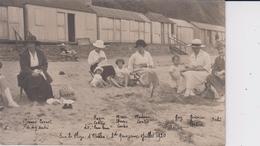 COTES D´ARMOR - Carte Photo Prise Sur La Plage D´Etables En Juillet 1920  ( Personnages Identifiés ) - Etables-sur-Mer