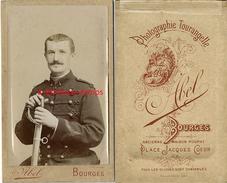 CDV Officier 1er Régiment-dolman-photographie Tourangelle Abel Ex Poupat Place Jacques Coeur-Bourges - Guerre, Militaire