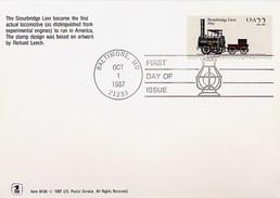 USA - FDC - BALTIMORE LOCOMOTIVE - Cartoline Maximum