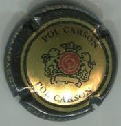 CAPSULE-CHAMPAGNE POL CARSON N°02x Or Pâle Contour Noir Verso Or - Champagne