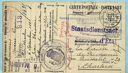 Relais/sterstempel HOUTHALEN 27/01/1916 Op Postkaart + GEPRUFT ... HASSELT
