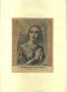 LA BIENHEUREUSE JEANNE D'ARC   . REPRO . DECOUPEE ET COLLEE SUR PAPIER . - Religión & Esoterismo