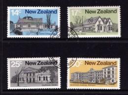New Zealand 1980 Architecture Set Of 4 Used - New Zealand