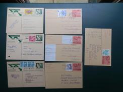 KARTONNEN DOOS 9/LOT18   7 CP SUISSE  OBL.  AVEC COMPLEMENT - Interi Postali