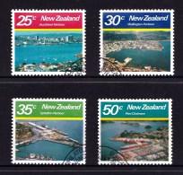 New Zealand 1980 Large Harbours Set Of 4 Used - New Zealand
