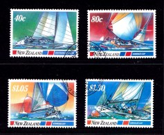 New Zealand 1987 Sailing - Blue Water Classics Set Of 4 Used - New Zealand