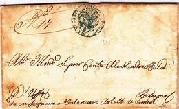 Domini Estensi, Carpi Per Bologna, Lettera Con Contenuto. Il Podestà. 1854 - Modène