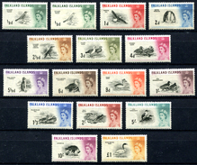 FALKLAND ISLAND 1960 1966 Birds (15+1) MNH CV EUR 220+ - Falkland Islands