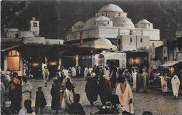 TUNIS - TUNISIE - CPA COLORISEE - Mosquée Sidi Mabrez Et Place Bab Souika - VAN - - Tunisia