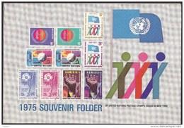 UN - United Nations New York 1975 MNH Souvenir Folder - Year Pack - Non Classés