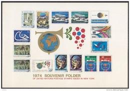UN - United Nations New York 1974 MNH Souvenir Folder - Year Pack - Non Classés