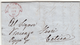 Firenze Per Poppi, Lettera Con Contenuto 1859 - Sardaigne