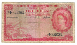 British Caribbean Territories, 1 Dollar 1964, USED, See Scan . Free Ship. To USA. - Andere - Amerika