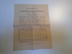 Bulletin De Souscription, 1894,  L'almanach De L'Espérance Et Pubs Religieuses - Publicidad