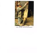 Garde-chasse - F. Roques Prépare Peaux Renard Pour Foire Sauvagine Rodez - Salon CP De Figeac 1986 - Caisse é D'Epargne - Métiers