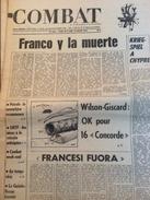 Combat N°9342 Du 20/07/74 : Franco Y La Muerte / Kriegspiel à Chypre - Kranten