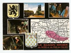 LE BASSIN MINIER DU NORD ET DU PAS DE CALAIS - MINEUR - MULTIVUES - NON CIRCULÉE - ÉDITION DE L'EUROPE - 2 Scans - - Mineral
