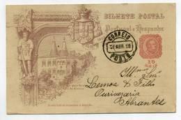 Portugal, Sintra, Paço Real - PORTO - ABRANTES 1899 Stationery - VER VERSO, Casa Comercial, Ourives  (2 Scans) - Entiers Postaux