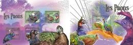 Centrafrica 2011, Animals, Birds, Pavon, 4val In BF+BF