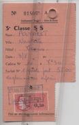 64 - SALIE De BEARN - CARTE DE CURE  - Etablissement Thermal - Curiste - Timbre Fiscal - - Tickets D'entrée