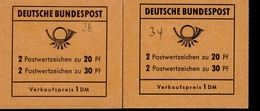 Markenheftchen Bund Postfr. MH 14 G Offen Und  Beschriftet - [7] Federal Republic