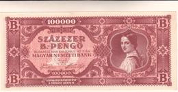 Banconota Ungheria, 100000 Pengo 1946 - Hongrie