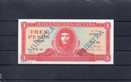 CUBA 1989, 3.PESOS, PK-107bs, SC-UNC, 2 ESCANER - Kuba