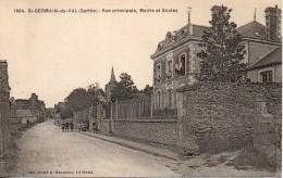 72 ST-GERMAIN-du-VAL Rue Principale , Mairie Et Ecoles - Frankreich