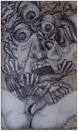 ROCHAS - Encre Sur Papier - Création - 1970 - 19,5 X 10,5 Cm - Encadré - 710 Grammes - Drawings