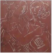 STRACHAN (Grande-Bretagne) - Linographie - Musicians - 1970 - 31 X 29,5 Cm - Encadré - Oeuvre Originale Unique Et Signée - Engravings