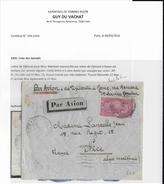 SOMALIS - 1935 - Yv.136 SEUL Sur ENVELOPPE (COTE MAURY 125 EUR) Par AVION 1° VOL DJIBOUTI à ROME - CERTIFICAT PHOTO - Côte Française Des Somalis (1894-1967)