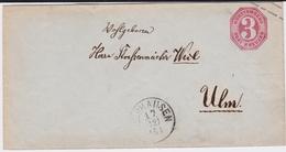 Württemberg U 17 K1 Altshausen N Ulm 1868 - Wuerttemberg