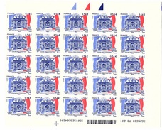 Feuillet De 25 Timbres Autoadhésifs N° 117 Neuf** Sous Faciale - Francia