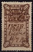 DANEMARK DANMARK DENMARK - TAX REVENUE FISCAL Stamp - 50 öre / 1906 - Fiscali