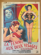 """Affiche Cinéma Originale Film LA FEMME AUX DEUX VISAGES """" L'ANGELO BIANCO """" De RAFFAELLO MATARAZZO Avec FLORA LILLO - Posters"""